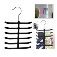 Useful 12 Tie Belt Towel Velvet Flocked Non-Slip Scarf Shawl Tie Belt Clothes Hanger V3NF