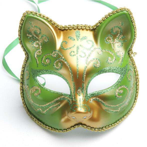 Beautiful Color Cat Girls Mask Masquerade Decorations Costume Mask Creative Full Face Party Mask 5pcs/lot SD242(China (Mainland))