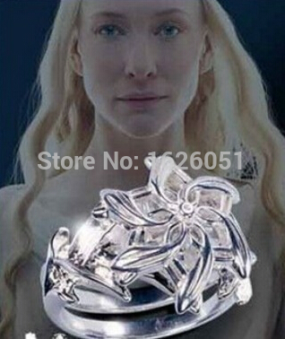 New Listing Hobbit Lord Of The Rings Rings Silver Flower Fairy Queen Street Jewelry