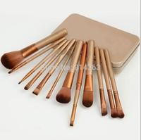 Free shipping 12 pcs Brushes Professional Goat Hair Makeup Brushes & Tools 1set