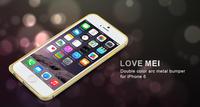 LOVE MEI Fashion Aluminum Bumper Frame Dual Color Curved Metal Bumper Case For iPhone 6 4.7'' Hippocampal Buckle Screwless