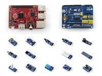 Raspberry Pi Red CN Version Model B Plus Rev3.0 Development Board + ARPI600 Expansion Board + Sensors Pack = Package D