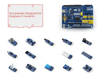 Raspberry Pi Model B Plus Accessories Pack Including ARPI600 Expansion Board + Sensors Pack RPI Not Included