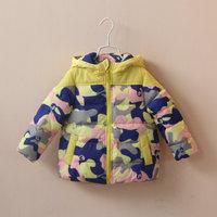 children's autumn and winter clothing girlschild Camouflage thickening cotton-padded jacket cotton-padded jacket child 120206