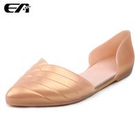 WS3 New 2014 jelly shoes flat heel sandals women melissa sandalias femininas flat pointed toe shoes women's shoes