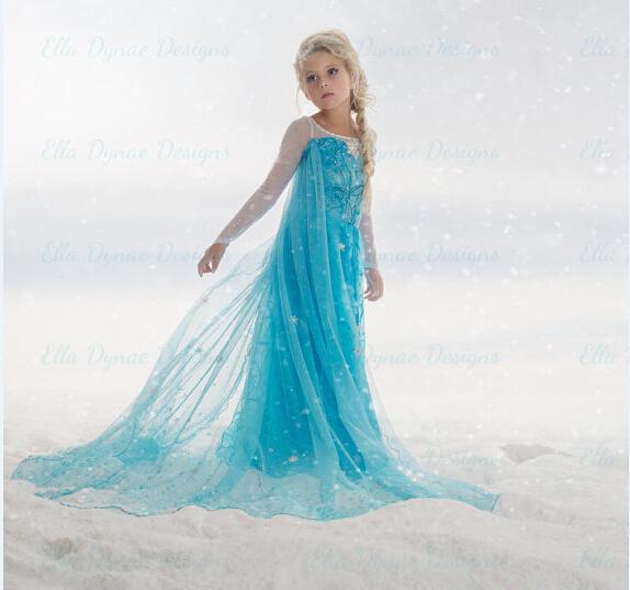 -de-los-bebés-calientes-Anna-y-Elsa-Frozen-coronación-vestidos-de