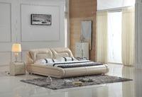 0414-801 modern design soft leather bed