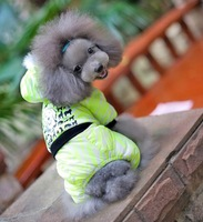 New 2014 Winter Green Dogs Pets Clothes Down Coat Jacket Puppy Cute Pet Apparel Pet Products
