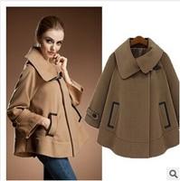 Manufacturers selling European version of women's winter 2014 new European station cape type loose women's coat jacket