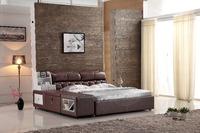 0414-812 modern design soft leather bed/bedroom furniture