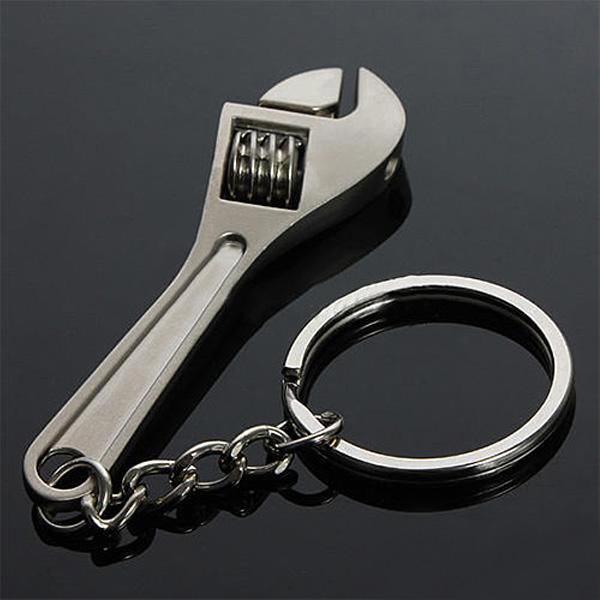 2pcs criativa ferramenta chave chave modelo chaveiro chave anel metal ajust