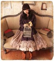 Harajuku Mori girl dress corduroy vintage polka dot basic winter loose maxi long sleeve full dress forest girl vestido oncinha