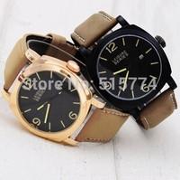Luxury Brand Genuine Leather Belt Men's Calendar Watches Male clock Fashion Free Shipping Good Quality