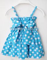 New 2014 Children Summer Clothes Girls' Dresses Baby Girl Dress Polka Dot Casual Dress Kids Dresses