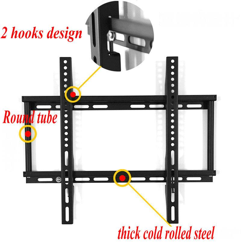 Hot Sale! Vesa 400 Fixed LCD LED Tv Wall Mount Bracket Free Shipping(China (Mainland))
