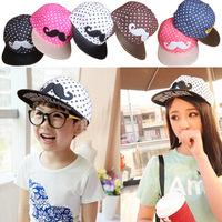 2014 The new Children's Moustache baseball cap Children's hip-hop cap parent-child cap children cute hats  Boys and girls cap