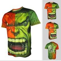 Fashion Hulk spider man downhill cycling wear riding running breathable quick dry short sleeved shirt mountain bike T-shirt