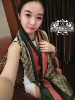 Autumn and winter scarf mulberry silk cashmere women's 100% cotton cape  14120204