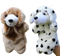Large Plush Dog Hand Puppet  Cute Dolls Education Toy Christmas Birthday Gift Wholesale Free Shipping