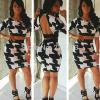 Fashion 2014 SummerEvening Dress Women Sexy Piece Suit Bandage Dress Casual Dress Vestidos for Ladies YH624