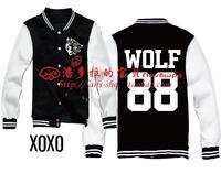 EXO / XOXO / KISS & HUG / FIRST YEAR / EXO Langtou wolf 88 baseball uniform exo kpop hoodie exo  kpop coat kpop clothes