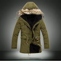 RU BR 15-35 days arrived down & parkas winter coat men long padded 2014 famous brand plus size XXXL casacos de inverno masculino