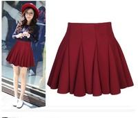 2015 space cotton short skirt plus size medium skirt winter skirt high waist skirt pleated  sheds
