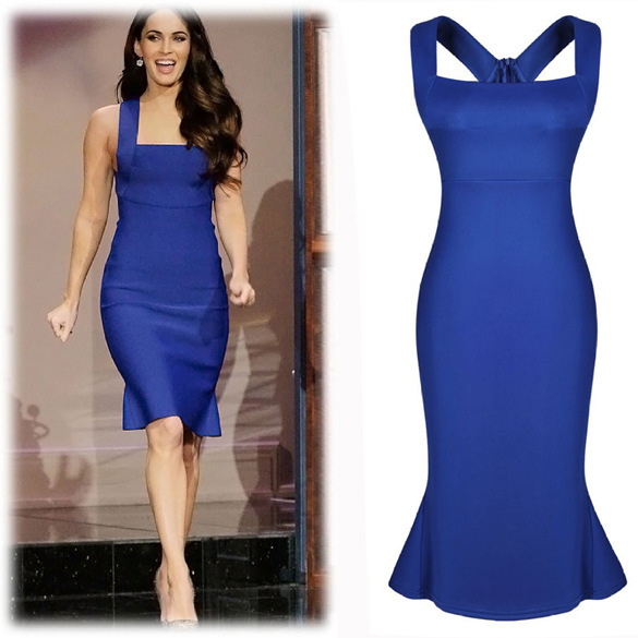 Женское платье Gillian Blue dress Bodycon Vestidos WD095 women dress WD095 цена и фото