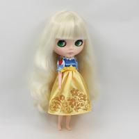 Free shipping Nude Doll 1/6 bjd doll B female girl cute white hair bangs 11.5 inch dolls for gilrs