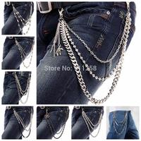 2014 Vintage Rock Men Women Fashion Hip-hop Party Metal Belt Chain,Waist Chain,Street Boy Trousers Chain FS3175-FS3182