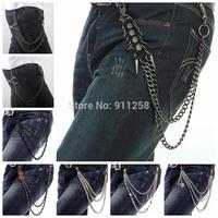 2014 Street Dance Men Women Fashion Hip-hop Party Metal Belt Chain,Waist Chain,Street Boy Trousers Chain FS3183-FS3190