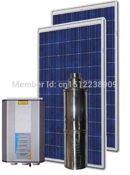 Eau solaire système de pompage 4ps0. 9 haute efficacité solaire submersible pompe à eau forage + mppt contrôleur automatique 370 w(China (Mainland))
