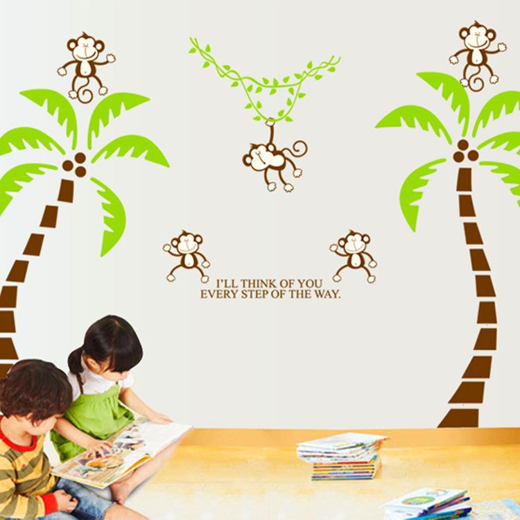 Cartoon Palm Tree Tree Wall Decal Cartoon