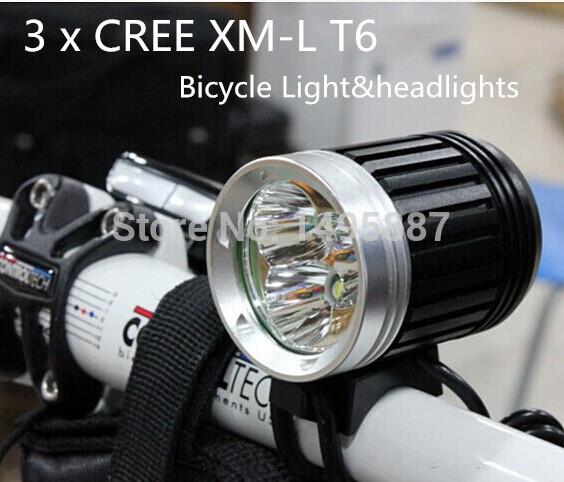 Фара для велосипеда 3 x CREE xm/l T6 3800 3 x T6