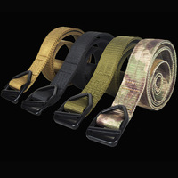 Men's Military Belts Army Thicken Canvas Tactical Outdoor Waistband Adjustable Hunting Emergency Rigger Survival