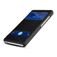 View Window Leather Flip Cover Folio Case For Huawei Honor 3C