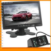 7 Inch RGB Car Rearview Monitor Digital Display Car VCR Monitor + 170 Degree Wide Angle 7 IR Lights Car Rear View Reverse Camera