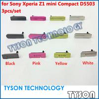 Original Micro SD Card SIM Card USB Charging Port Flap Dust Plug Block Cover Set for Sony Xperia Z1 Mini D5503 Free Shipping