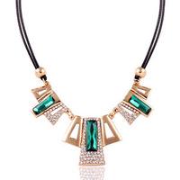 Hot Women Crystal Rhinestone Drop Chain Necklace  Women Jewelry Statement Bijouterie Accessories Gift 2014