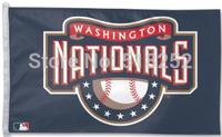 MLB washington national Flag 3x5 FT 150X90CM Banner 100D Polyester flag 1042, free shipping