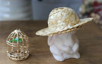 DIY hand woven lovely small straw hat photography prop