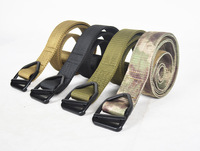 Military Belts Army Thicken Canvas Tactical Outdoor Waistband Adjustable Hunting Emergency Rigger Surviv Triangle belt buckle