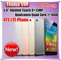 Original Lenovo S90u 4G LTE Mobile Phone Quad Core  5.0'' 1280x720P 1G RAM 16GB ROM Rear Camera 13.0MP Dual Camera Dual Sim