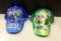 100pcs/Lot Free Shipping! Fashion Ben 10 Character Visors Cartoon Kids Berets Hats for Boys A022 On Sale Wholesale