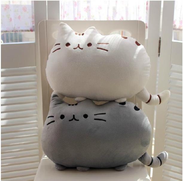 Free shipping pusheen plush toys cat pillow big cushion original 40*30cm large soft toy pillows the anime cats plusheen shape(China (Mainland))