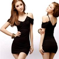 2014 Summer new Korean women's clothing wholesale trend nightclub Slim sexy package hip dress child