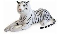 New Plush Stuffed Animal Toy Simuation White Tiger Doll Pillow Home Furnishings Girls Birthday Child Xmas Gifts Free shipping