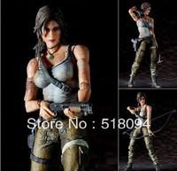 2013New Free Shipping SquareEnix PlayArts Tomb Raider Lara Croft PVC Action Figure 21CM MVFG040