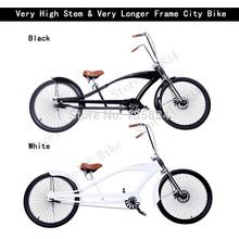 "26"" Very High Stem & Very Longer Frame City Bike 20mm Width Tire is for the Mountain & Sand bicicleta mountain bike 26 Road Bike(China (Mainland))"