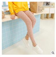 A756 Korea retro pastoral system small fresh small Floral Cotton Leggings nine pants pencil pants